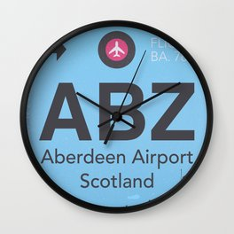 ABZ airport Wall Clock