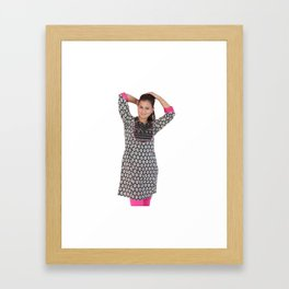 3/4 Sleeves Womens Kurtas Framed Art Print