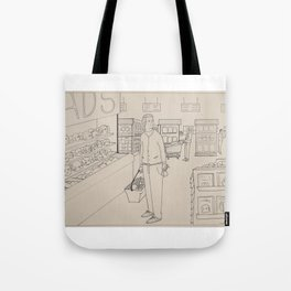 grocery store dilemma Tote Bag