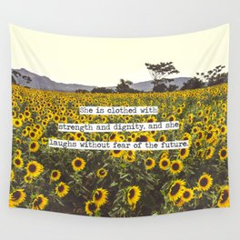 She is clothed with strength and dignity Wall Tapestry