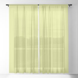 Tennis Ball ~ Chartreuse Sheer Curtain