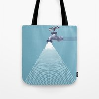 waterfall Tote Bags featuring Waterfall by Shkvarok