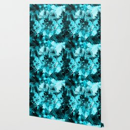 Perfectly Flawed Dreaming Skulls in Blue Wallpaper