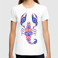 patriotic T-shirts featuring Patriotic Scorpion by Cat Coquillette
