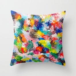 rainforest abstract 1 Throw Pillow