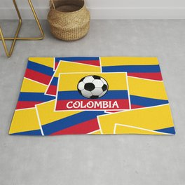 Colombia Football Rug