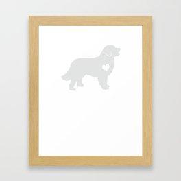 Adore Bernese Mountain Dogs Framed Art Print