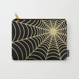 Spiderweb | Gold Glitter Carry-All Pouch