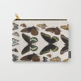 Vintage Scientific Insect Butterfly Moth Biological Hand Drawn Species Art Illustration Carry-All Pouch