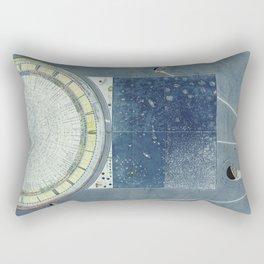Beautiful 19th Century Celestial Chart by Ignazio Villa Rectangular Pillow