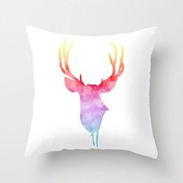 Neonimals: Deer Throw Pillow