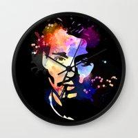 johnny depp Wall Clocks featuring Johnny Depp by BIG Colours