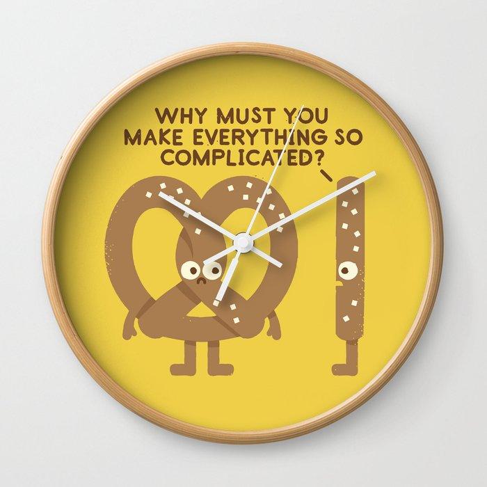 Straight Talk Wall Clock