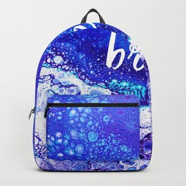Breathe, Acrylic Pour Backpack