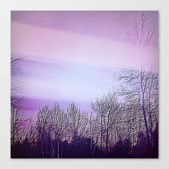 Lavender Dusk Landscape | Nadia Bonello Canvas Print