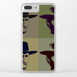 Clint Eastwood Pop Art Clear iPhone Case
