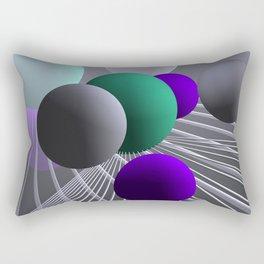 converging lines and balls -1- Rectangular Pillow