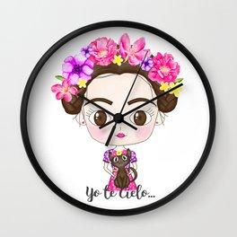 Flowers Frida Wall Clock