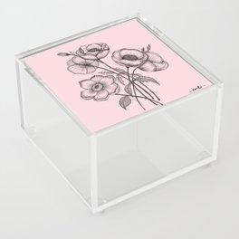 Palid Flowers  Acrylic Box