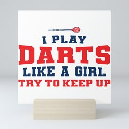 Dart World Cup Darts Girl Arrow Dartboard Gift Mini Art Print