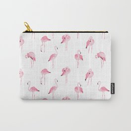 pink flamingo print Carry-All Pouch