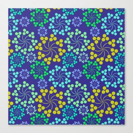Whirly Blue Canvas Print