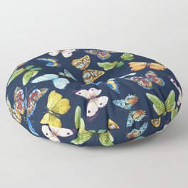Butterfly Pattern 03 Floor Pillow