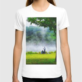 The Father and Son Fishers (Color) T-shirt