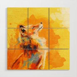 Blissful Light - Fox portrait Wood Wall Art