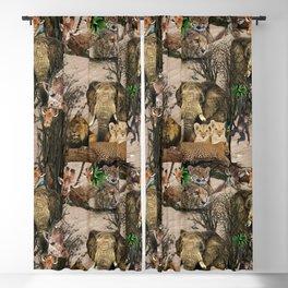 Safari wildlife repeat design Blackout Curtain