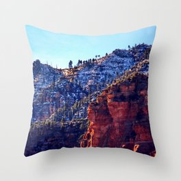Snow in the Hills Throw Pillow