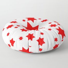 JULY 4TH  RED STARS DECORATIVE DESIGN Floor Pillow