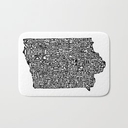 Typographic Iowa Bath Mat