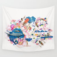 philippines Wall Tapestries featuring Dagat by Kitkat Pecson