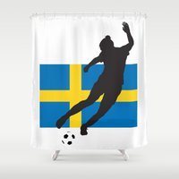 sweden Shower Curtains featuring Sweden - WWC by Alrkeaton