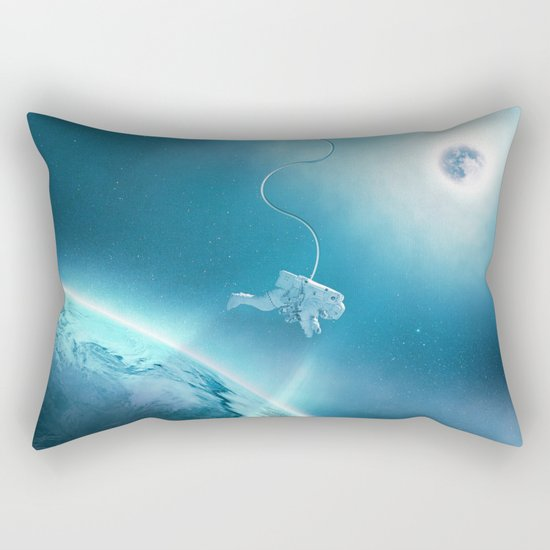Astronaut Floating in Space Rectangular Pillow