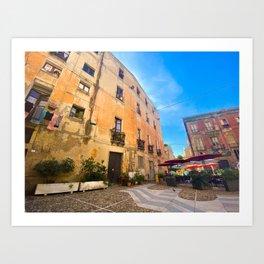View of Cagliari | Cagliari Sardinia Travel Photography | Travel photo Art Art Print