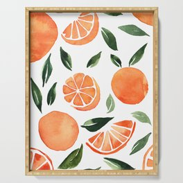 Summer oranges Serving Tray