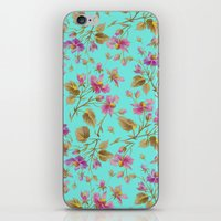 aelwen iPhone & iPod Skins featuring beach roses mint by Ariadne