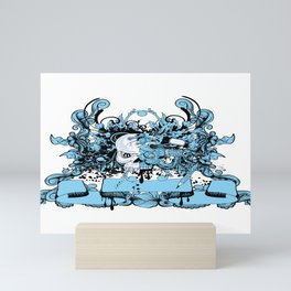 Scuba Skull Mini Art Print