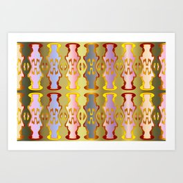 Pattern by different pairs Art Print
