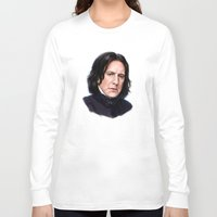snape Long Sleeve T-shirts featuring Sad Snape by Annike