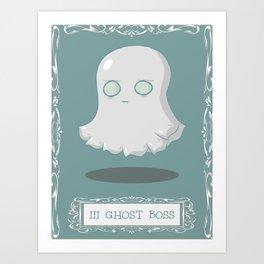 Ghost Boss Art Print