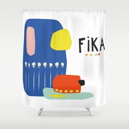 Fika Collage Shower Curtain