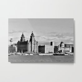Water front Liverpool (Digital Art) Metal Print