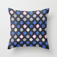 polka dots Throw Pillows featuring Polka Dots  by MyLove4Art