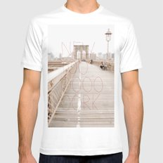 New York romantic typography vintage photography MEDIUM White Mens Fitted Tee