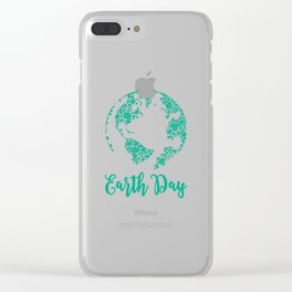 Earth Day World Leaves - Earth Day graphic Gift Clear iPhone Case