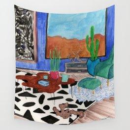 Mid Century Desert Home Wall Tapestry