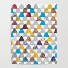 Christmas trees pattern  #society6 #tapestry #stickers #artprint Poster